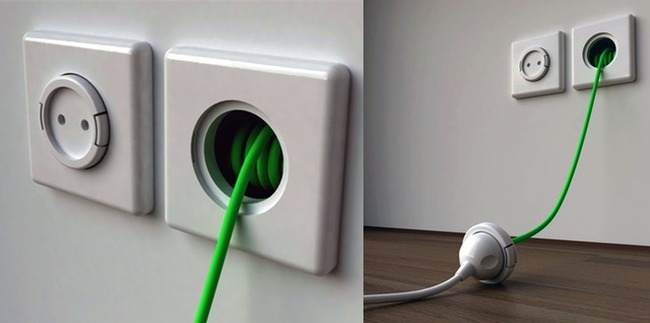 30 Insanely Clever Innovations That Need To Be Everywhere Already - And the ultimate outlet would also have extension cords built into the wall.