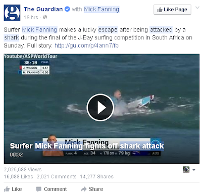 Mick Fanning shark attack video goes viral