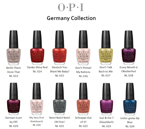 Lola Loves Sparkles: OPI Germany and James Bond Skyfall Collections