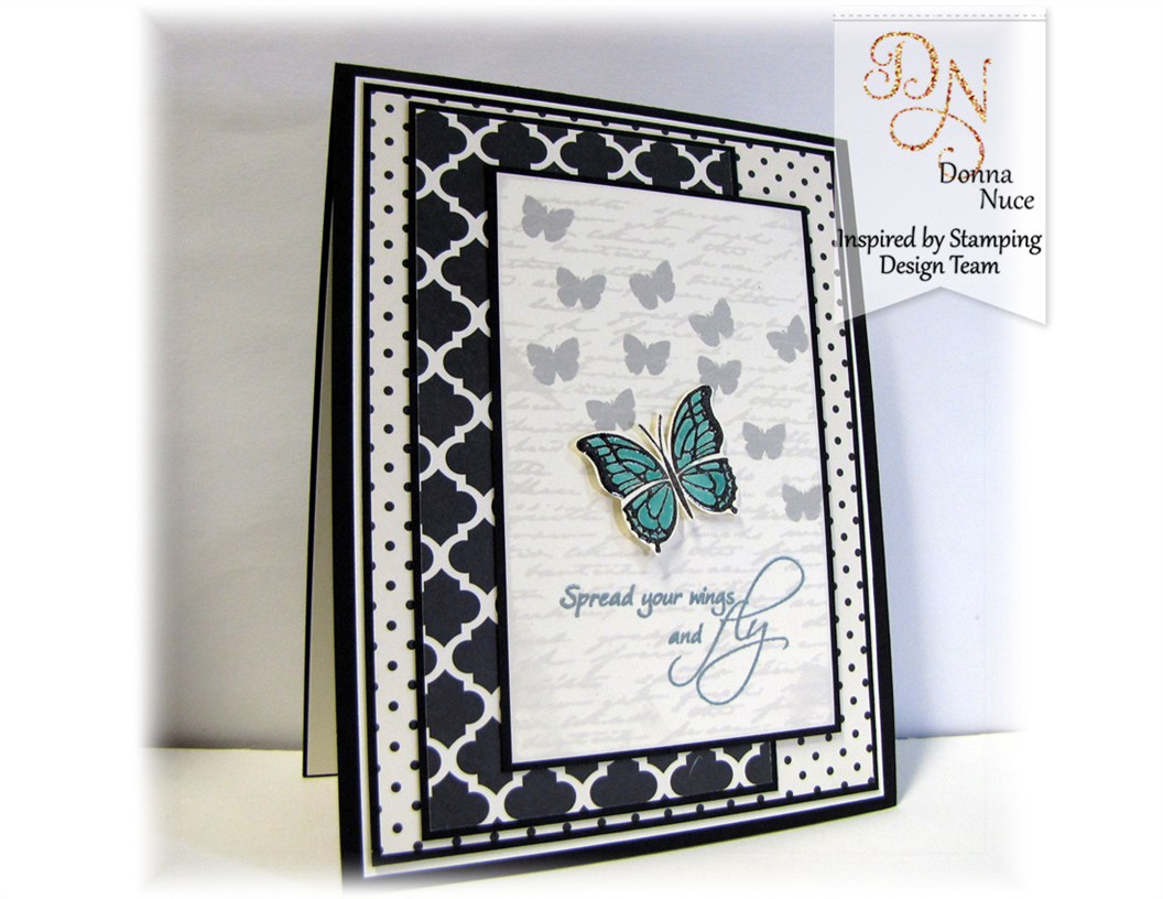 Inspired by Stamping, Crafty Colonel, Butterfly Wings, Background Basics III, Graduation Card