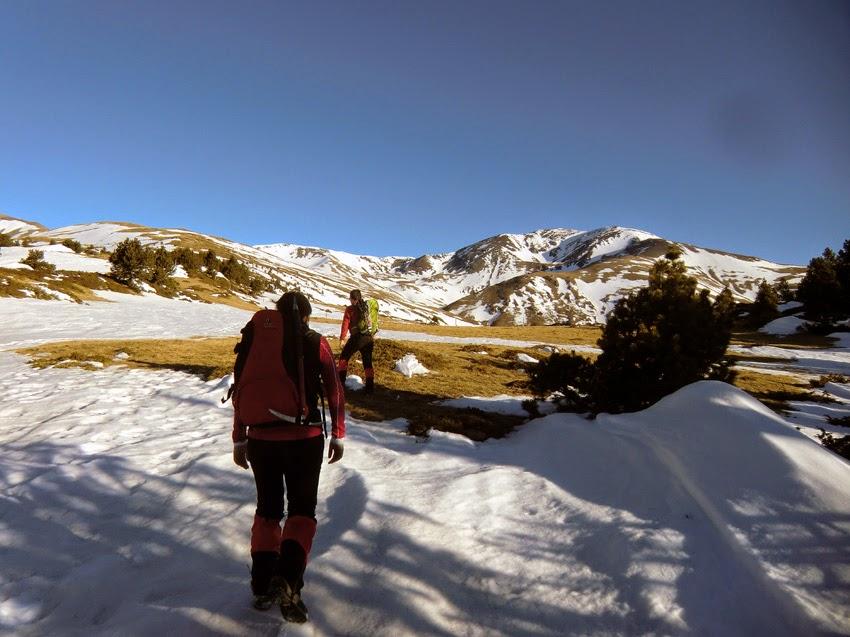 Roc Blanc en la ascensión al Puigmal por el Collet de les Barraques.