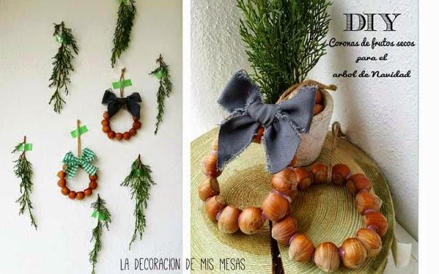5 coronas para navidad decoraci n - Adornos caseros navidad ...