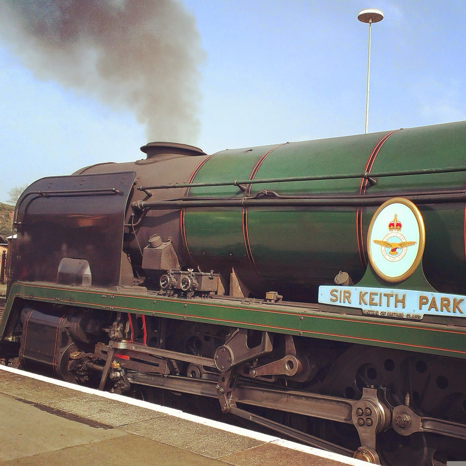 Sir Keith Park railway engine on Severn Valley Railway