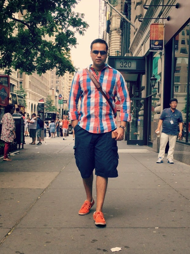 Men's Fashion, Ted Baker Shirt, Cargo Shorts, Canvas Shoes, Tanvii.com