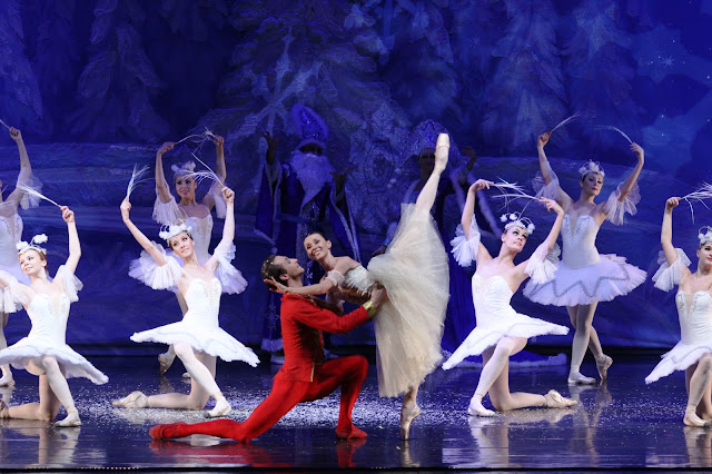 Masha and Nutcracker Prince in Snow Forest
