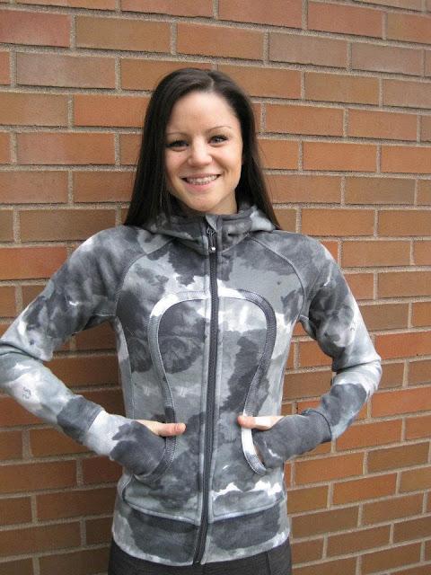 lululemon tinted canvas print scuba hoodie jacket