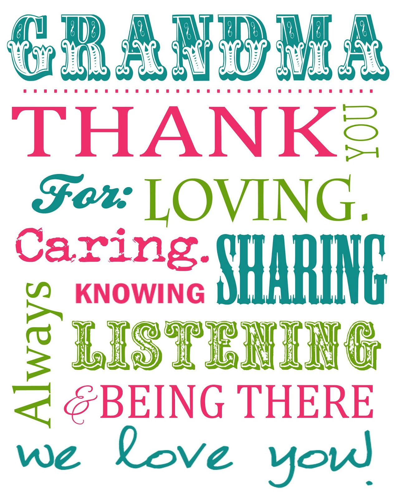 Impeccable image for printable birthday cards for grandma