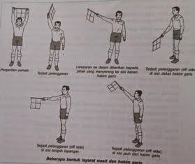 ... Isyarat Wasit Dan Hakim Garis Permainan Sepak Bola ~ Langkah Bugar