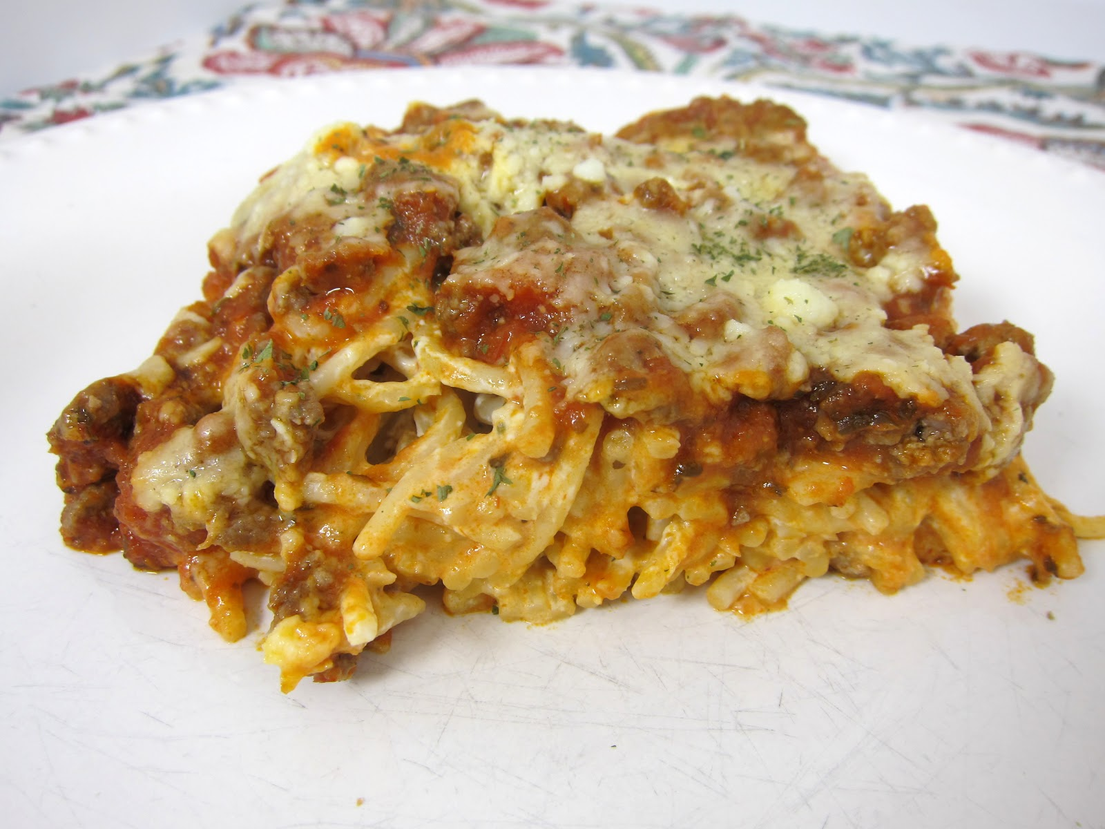 how to make spaghetti casserole