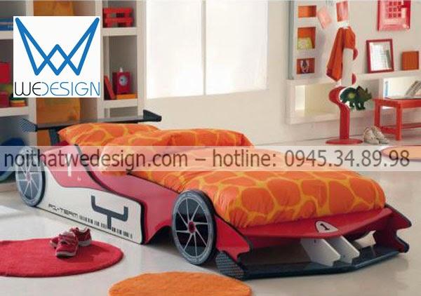 Giường ngủ ô tô F1 cho bé trai