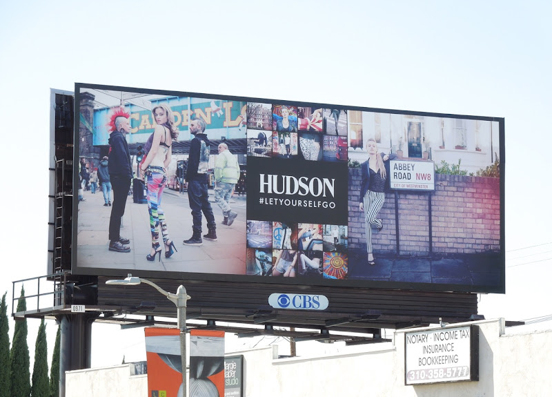 Hudson Jeans Abbey Road billboard