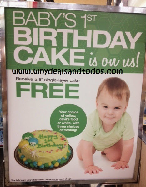 WNY Deals and ToDos Tops Markets FREE 1st Birthday Cake for