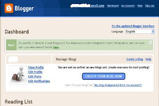 cara mendaftar blogspot