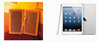 "Tablette ""antique"" vs tablette moderne"