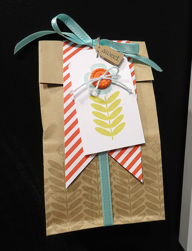 Stampin' Up! Decorated Treat/Gift Bag