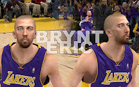 NBA2K12 LA Lakers Cyberface Patches Steve Blake