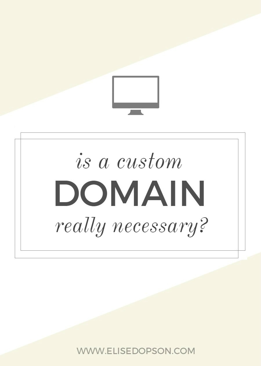 Is A Custom Blog Domain Really Necessary?