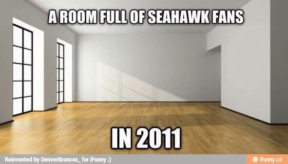 a room full of seahawks fans in 2011
