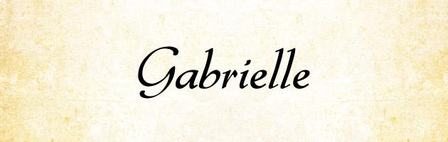 Gabrielle | イタリック(斜め)になっているエレガントな雰囲気の筆記体フリーフォント。商用可。
