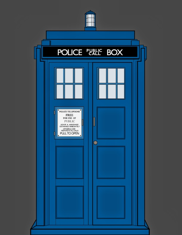 Back  gt  Gallery For  gt  Tardis Vector OutlineTardis Vector Outline