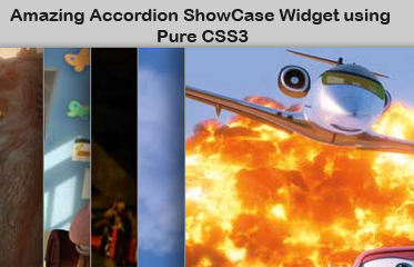 Amazing Accordion ShowCase Widget using Pure CSS3