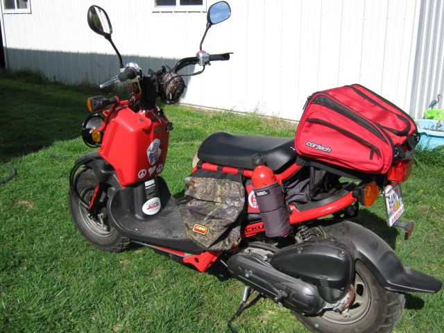 My little red Ruckus is on