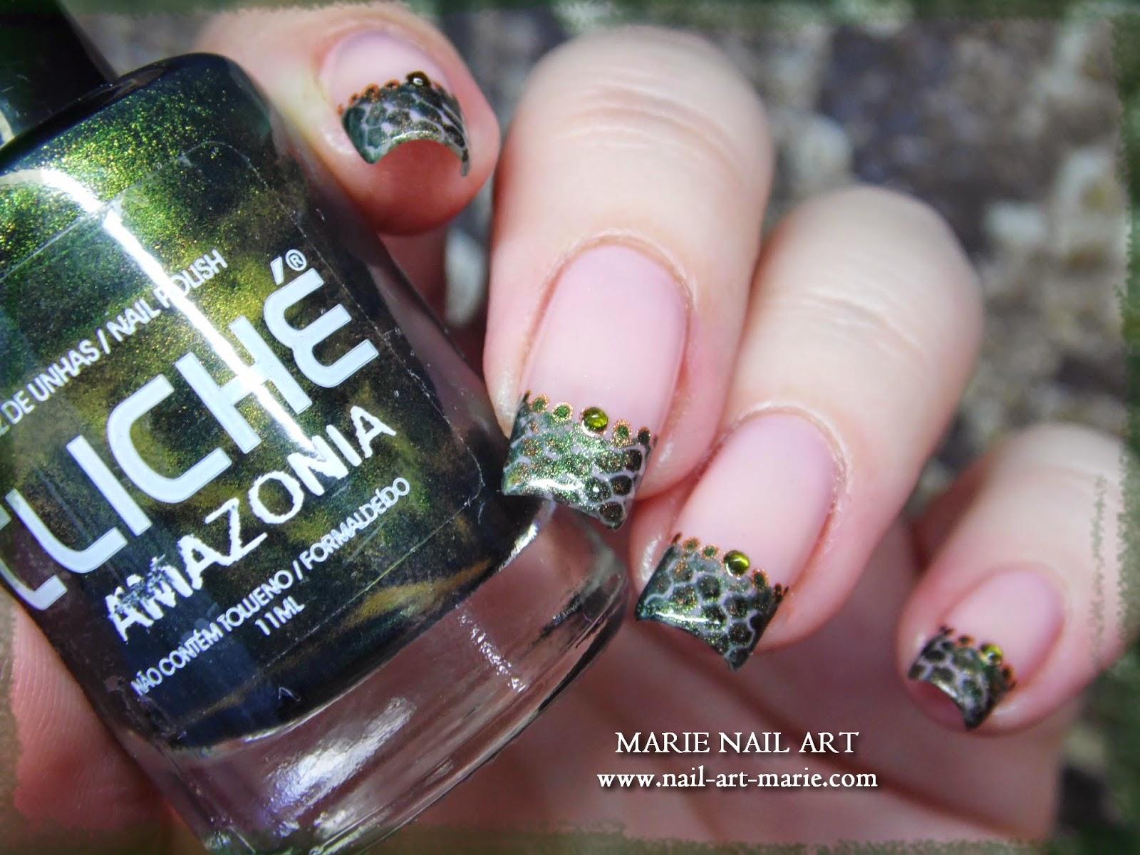 nail art effet peau de serpent5