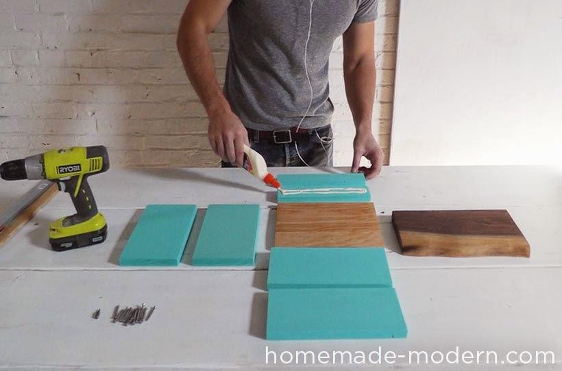 Ma maison au naturel une table de chevet design faire - Fabriquer une table de chevet ...