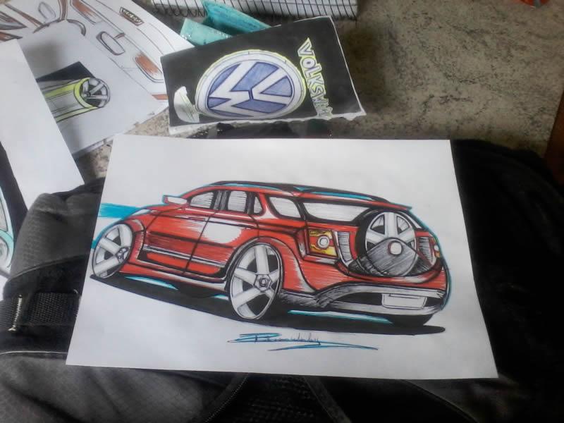 Carro vermelho - 1 (desenho)