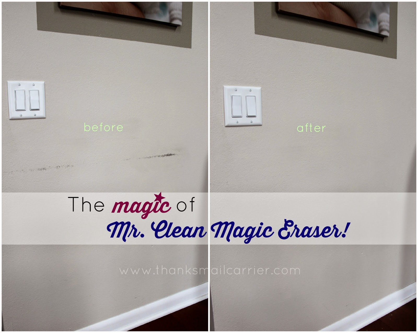 Mr. Clean Magic Eraser walls