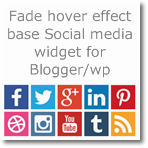 Fade hover effect base Social Media Widget for Blogger/Wordpress