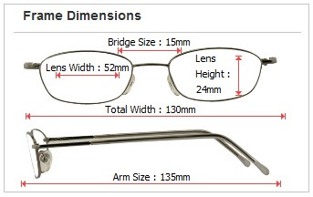 glasses dimensions