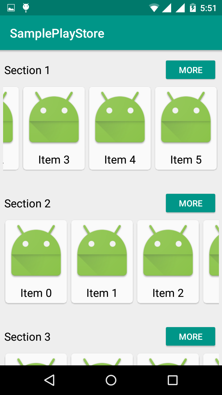 recyclerview horizontal scroll in android