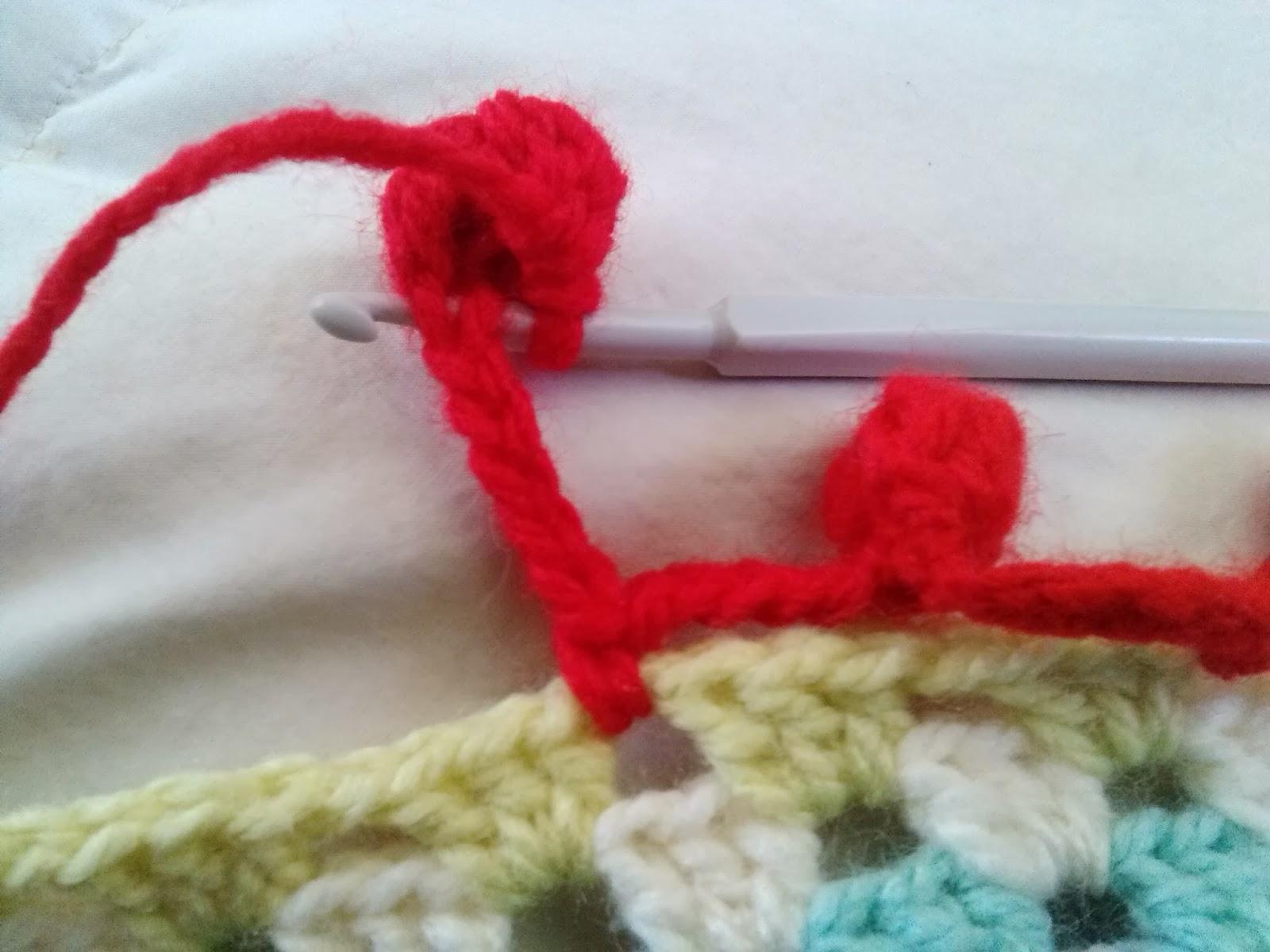 mini pompones crochet