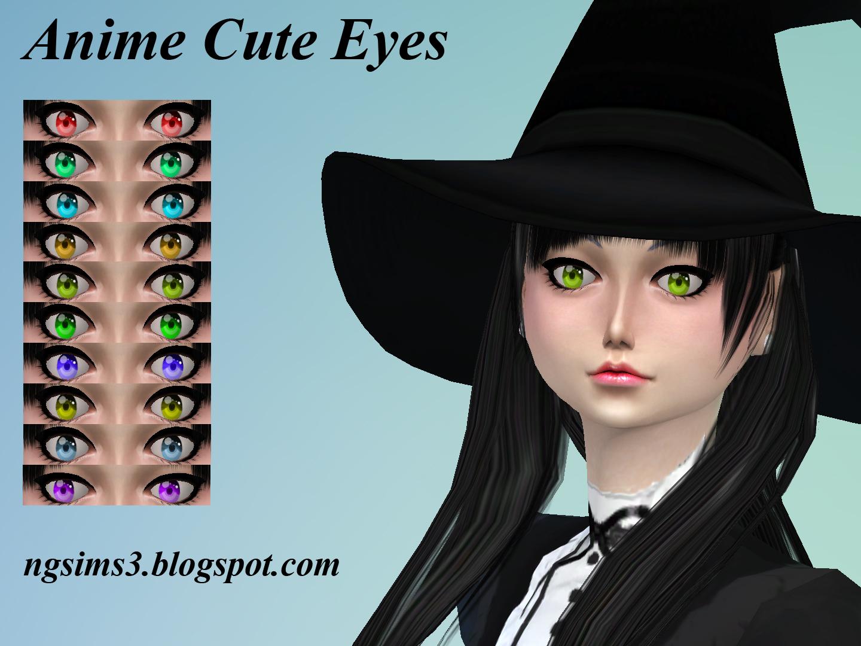 Sims 4 Anime Characters Mod : Ng sims anime cute eyes ts