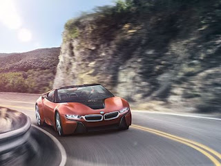 Rendering of The BMW i8 Spyder Concept Surfacing
