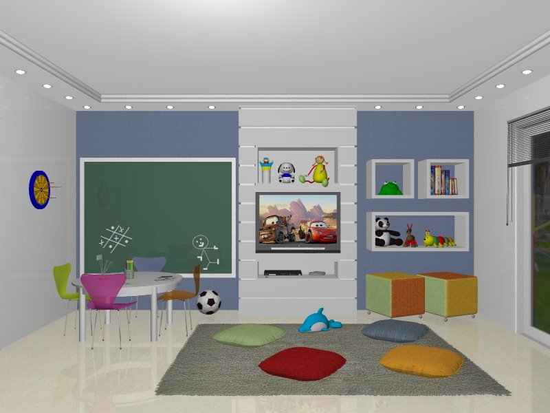 Sala De Tv E Brinquedoteca ~  as crianças para brincar, mais conhecido como uma sala de bagunça