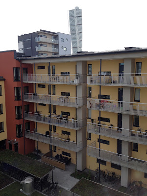 balconies in the courtyard