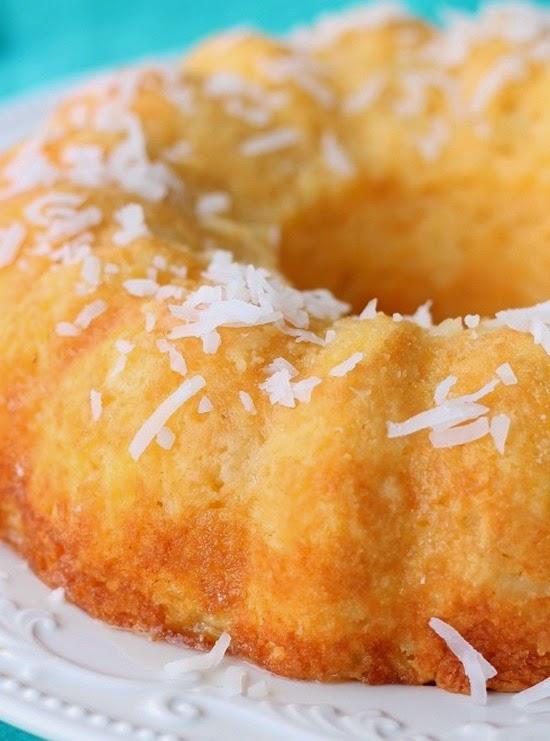 Coconut Bundt Cake Pineapple Glaze