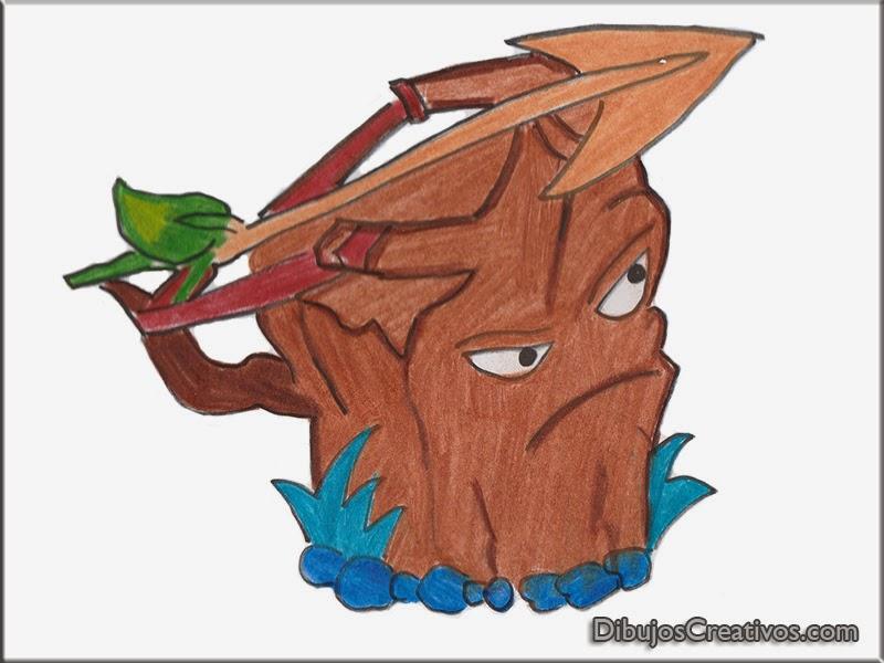 dibujos coloreados ROBLE ARCHER PLANTAS VS ZOMBIES