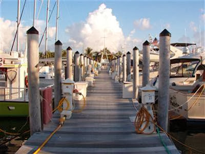 Entrance to Conch Harbor Marina main dock