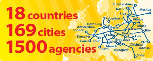 Siatka połączeń autobusowych w Europie
