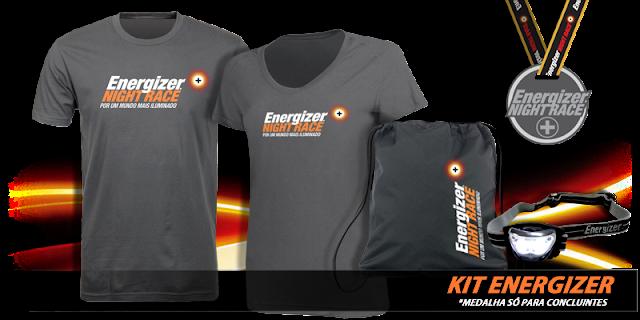 Kit de corrida da Energizer Night Race 2013 - São Paulo - 25/05/2013