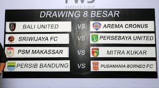 Hasil Drawing 8 Besar Piala Presiden 2015