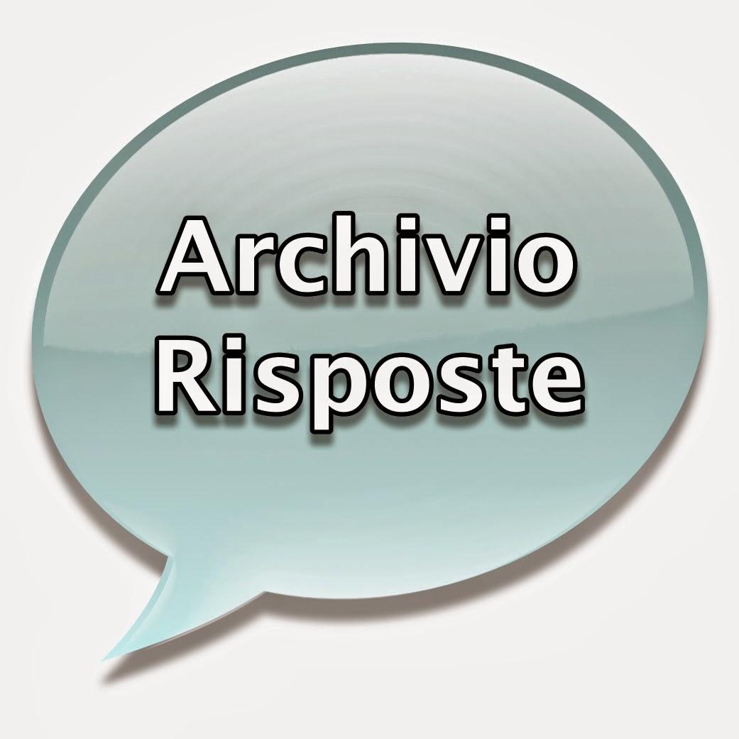Archivio risposte