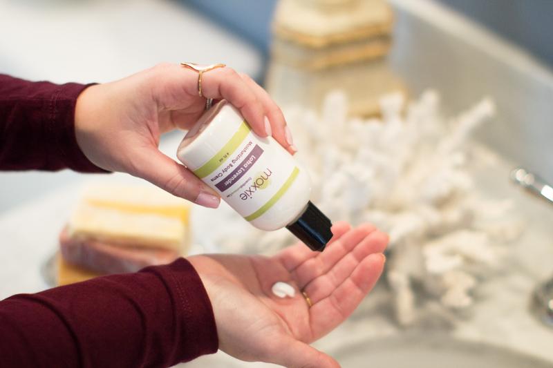 moxxie lavender lotion, natural skincare