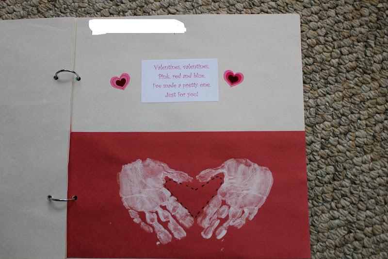 THE MUDDY PRINCESS: Kindergarten Handprint Scrapbook