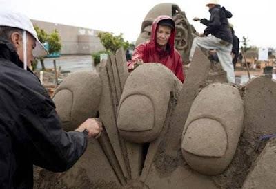 Increibles esculturas en arena