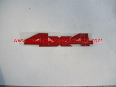Emblem Alumunium Red 4x4