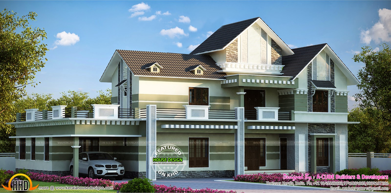 3122 sq ft 4 bhk house kerala home design and floor plans for 4 bhk house plan ground floor